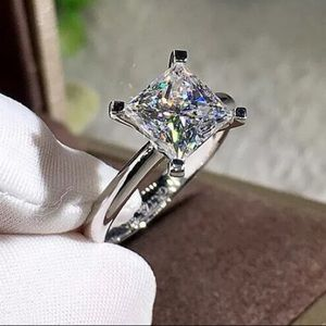 NEW 2 Carat Square Princess Cut Engagement Ring